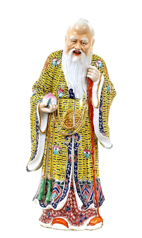 Old Chinese Famille Rose Shoulo figurine MK