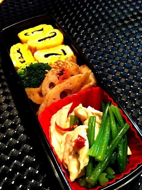 ササミとほうれん草をチンジャオロースっぽい味付けに…(´・ω・`) - 10件のもぐもぐ - 鶏ササミ中華風弁当 by hanamomo