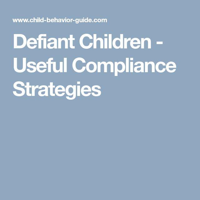 Defiant Children - Useful Compliance Strategies