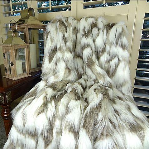 Tibet Fox Faux Fur King Size Blanket