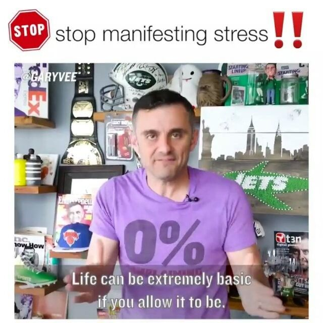 Repost from @garyvee   We are creating our own stresses ... please stop .. and please make sure your crew sees this video #hustle #selflove #selfawareness #selfimprovement