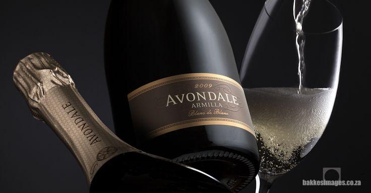 Wine Photography for Marketing & Advertising. Avondale Armilla Blanc De Blanc 2009. www.bakkesimages.co.za