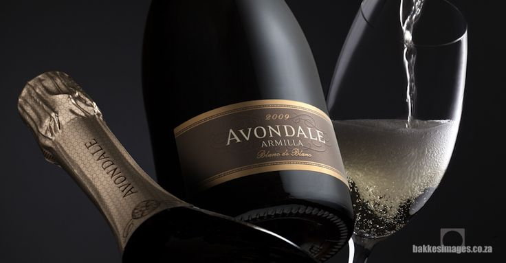 Wine Photography for Marketing & Advertising. Avondale Armilla Blanc De Blanc 2009. www.bakkesimages.co.za
