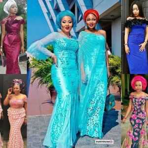 This weekend there were so many other society weddings and I've selected the best Aso Ebi Styles from this weekend; This Aso ebi styles are simple and