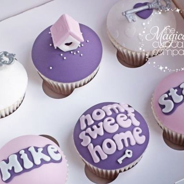 8 best images about housewarming cupcakes on pinterest for New home cupcake decorations