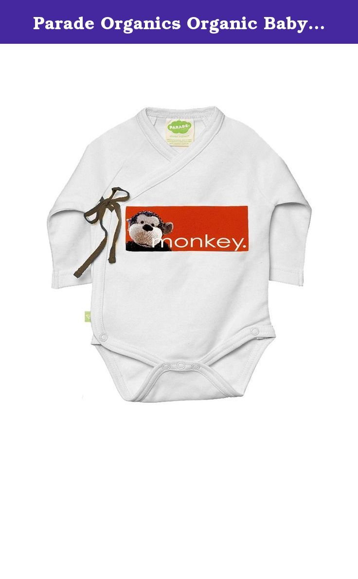 """Parade Organics Organic Baby """"My Nickname"""" Kimono Onesie. Our nickname onesies are made from the softest, coziest organic cotton. Whether baby's a little """"monkey"""" (after all, 2016 is the Year of the Monkey!), """"sweetpea"""", or """"peanut"""", there's a nickname onesie out there to suit baby's unique personality. The kimono design is as practical as it is adorable. Sides open and tie so you can lay baby into it to dress, and don't have to pull it over little heads. Match with baby yoga pants for a..."""