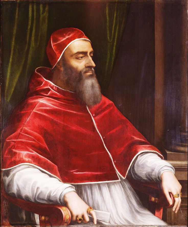 Pope Clement VII (Italian: Papa Clemente VII; Latin: Clemens VII) (26 May 1478 – 25 September 1534), born Giulio di Giuliano de' Medici, was Pope from 19 November 1523 to his death in 1534. The Sack of Rome and English Reformation occurred during his papacy.