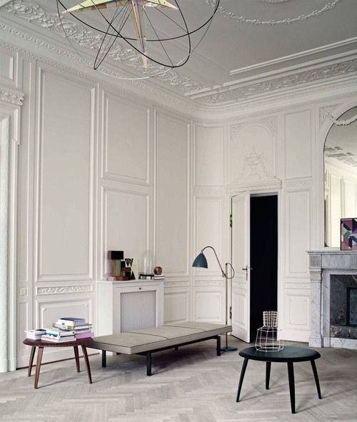 Dream walls, mouldings, floors and colour palette.
