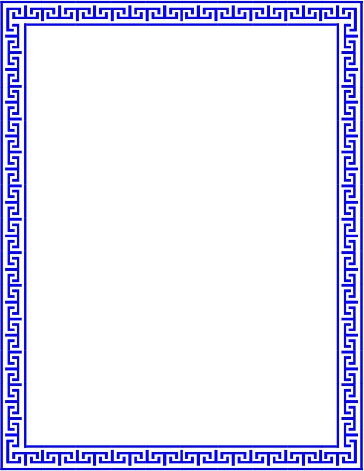 roman menu template - greek lines page outline fonts borders clip art