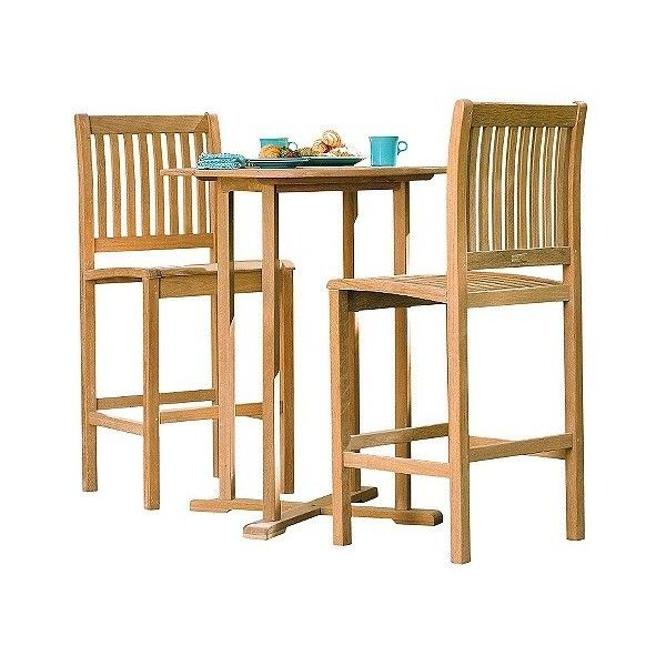 Oxford Garden Sonoma 3 Piece Bar Set (€990) ❤ liked on Polyvore featuring home, outdoors, patio furniture, outdoor patio sets, brown, outdoor furniture, outdoor table chairs, 3 pc dining set and outdoor table and chairs
