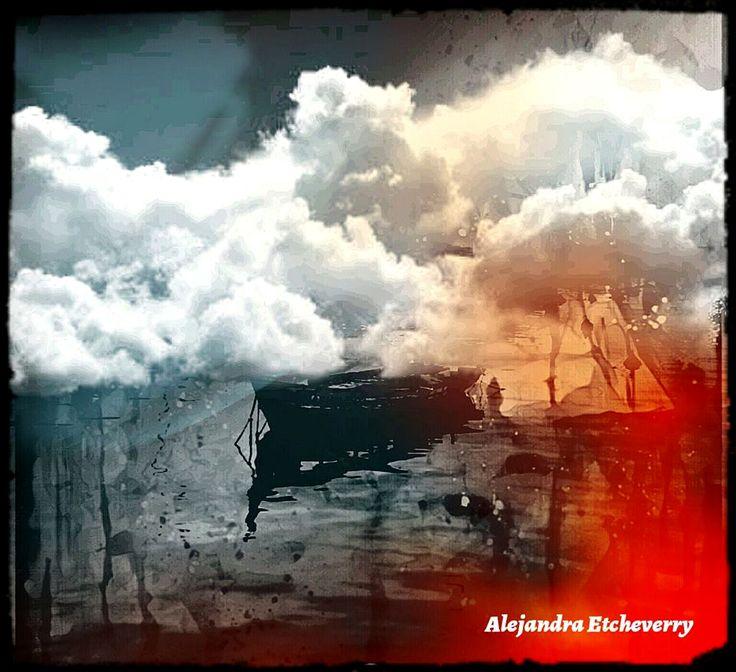 Navegando entre nubes - Fotografía intervenida - San Luis, Argentina - Autora: Alejandra Etcheverry