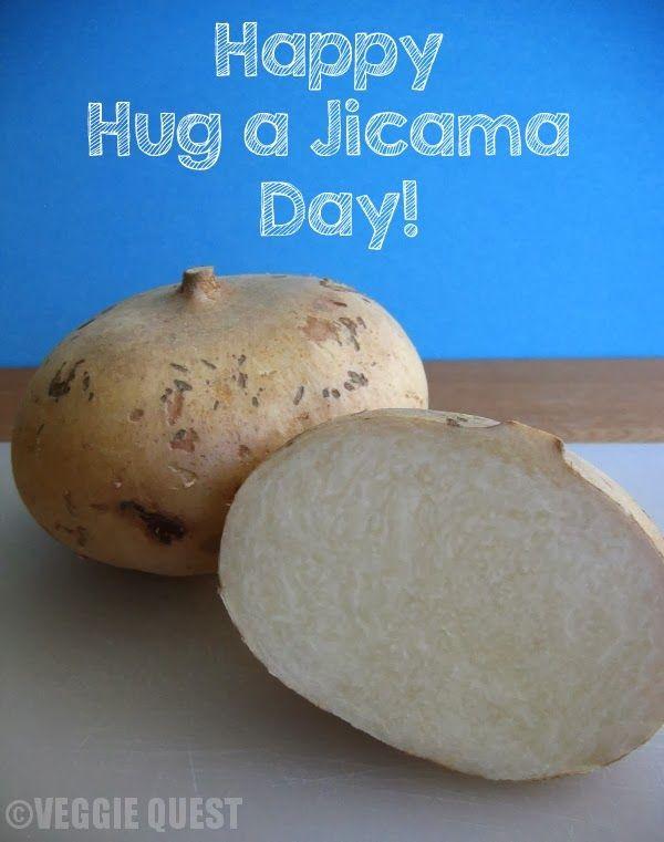 VEGGIE QUEST: Jicama Nutrition + 4 Creative Ways to Enjoy Jicama - Happy Hug a Jicama Day!
