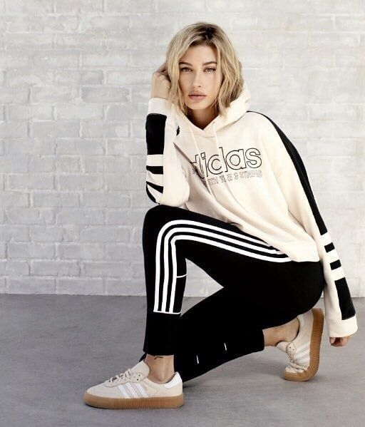 online store f6dcd e23ae Hailey for Adidas Originals and JD Sports campaign haileybaldwin