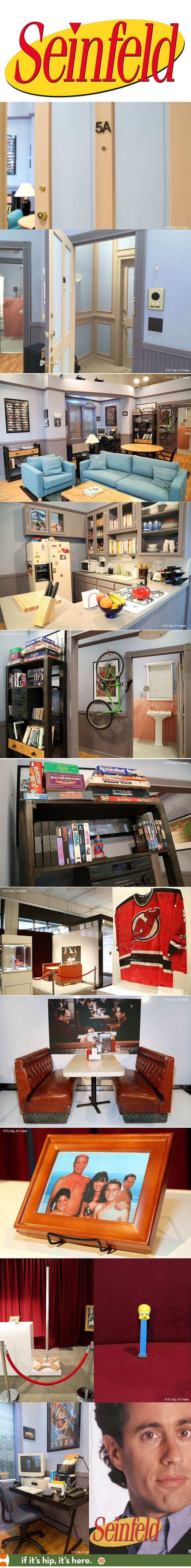 Seinfeld apartment replica and mini museum pop-up in New York to promote Hulu. | http://www.ifitshipitshere.com/seinfeld-apartment-replica-and-mini-museum-promote-hulus-streaming-of-the-comedy/
