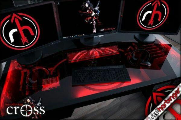 Computer Pc Desk Mod Modification Setup Gaming Computer