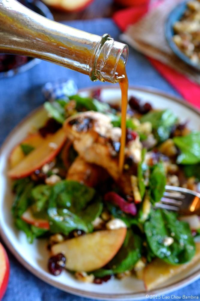 SnapDragon Apple, Walnut and Chicken Spinach Salad with Feta ...