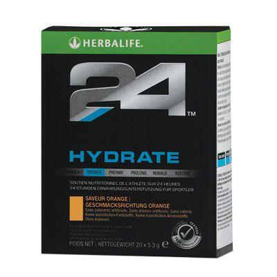 H24 Hydrate Kalorienarmes Elektrolytgetränk.  # 1433Orange 20 x 5,3 g www.GOHERB.eu