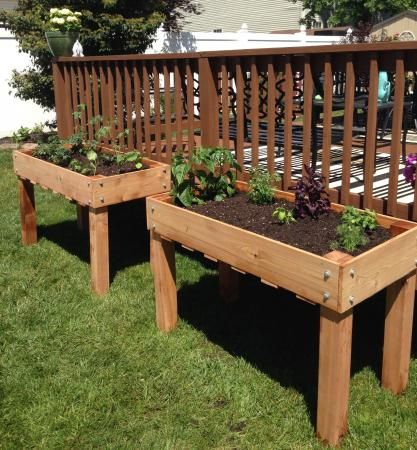 Counter Height Vegetable Garden : gardening vegetables diy gardening build garden planters vegetable ...