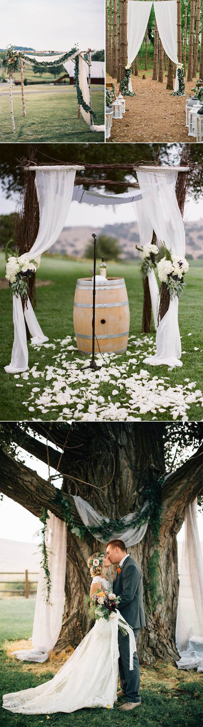 easy and romantic rustic wedding arches ideas