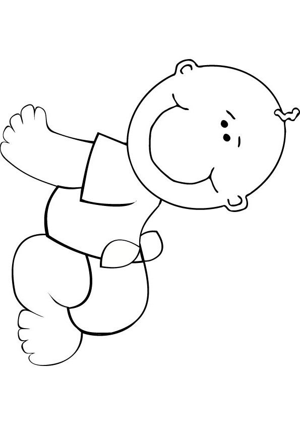 baby boy printable coloring pages simple baby coloring pages