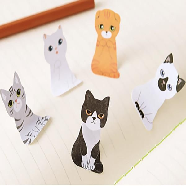 Kitty In A Box Sticky Notepads (Set of 5)