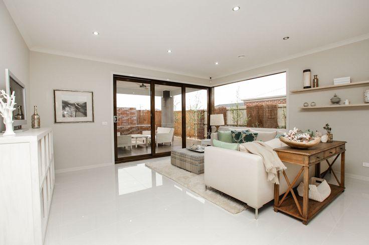 Enjoy your spacious open plan living area. #OpenLiving #ModernLiving #ModernHouse #OpenPlan #MimosaHomes #DisplayHome www.mimosahomes.com.au