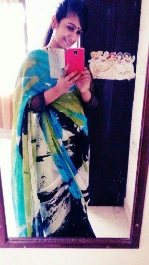 In my fav #vismay saree.