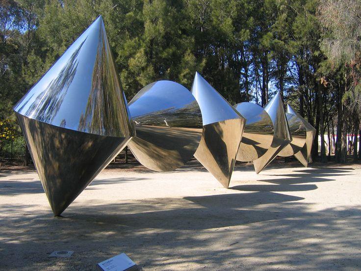 Cones by Bert Flugelman Sculpture Garden of the National Gallery of Art, Canberra, Australia