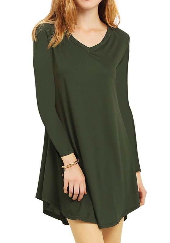 Green Plain Draped Heart-Shaped Neckline Casual Cotton Mini Dress
