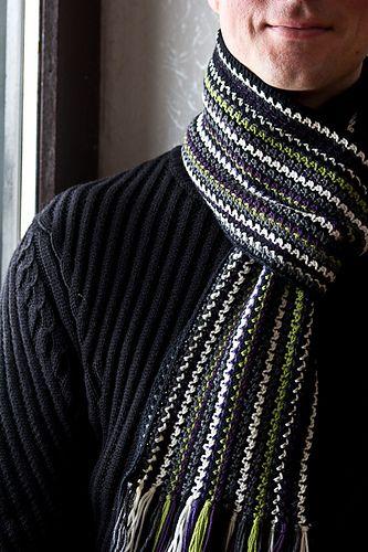 Ravelry: Rikora's Men's Crochet Scarf Ver.2