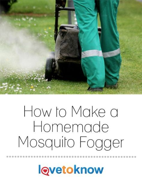 Mosquitos have a way of ruining picnics, barbecues, pool parties, and other warm weather festivities. There are many forms of mosquito control but one of the surest methods is to use a mosquito fogger before your event to make sure your guests don't go home itching and scratching. Mosquito foggers can cost several hundred dollars, but you can build you own from an old lawnmower. | How to Make a Homemade Mosquito Fogger from #LoveToKnow
