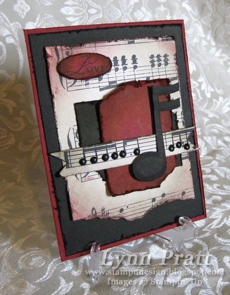 Stamp-n-Design: Music Notes - Mojo Monday Challenge