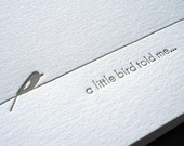 stationaryBirds Told, Little Birds, Letterpresses Things, Fun Stationery, Letter Pressed Stationery, Unique Stationary, Note Cards