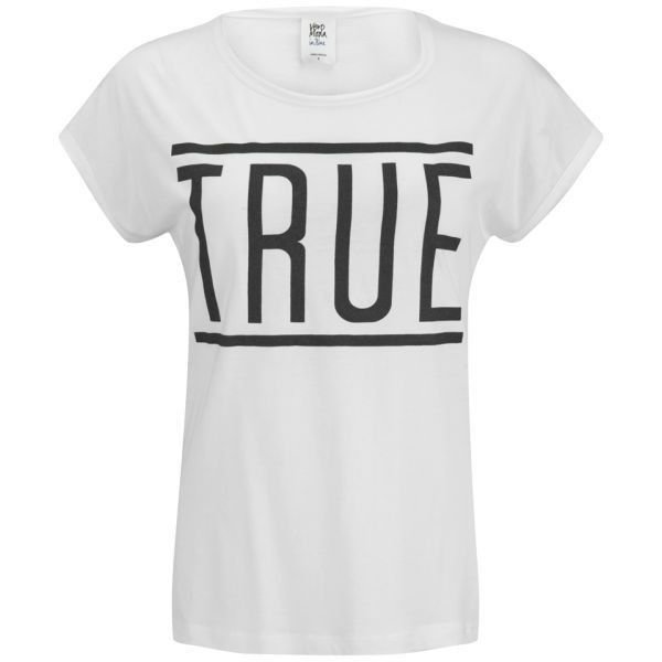 Vero Moda Women's Game Slogan Top - Snow White ($4.87) ❤ liked on Polyvore featuring tops, t-shirts, shirts, tees, white, white crew neck t shirt, white shirt, crewneck t shirt, t shirt and organic cotton t shirts