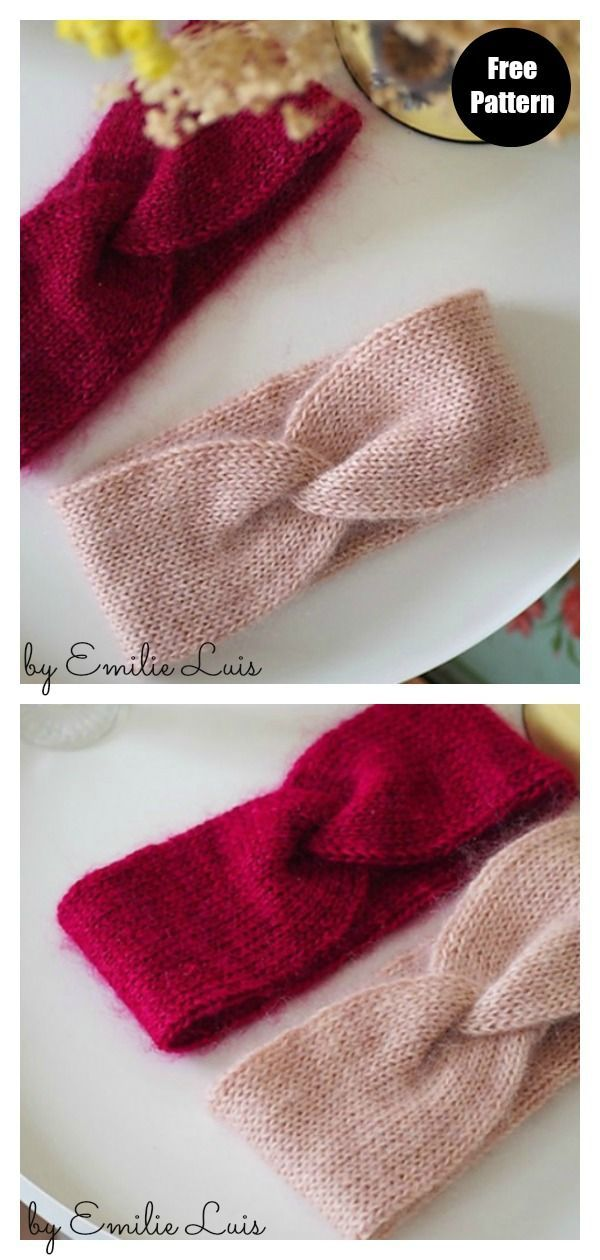 I'm Excited To Share This Knit Headband's Free Pattern From