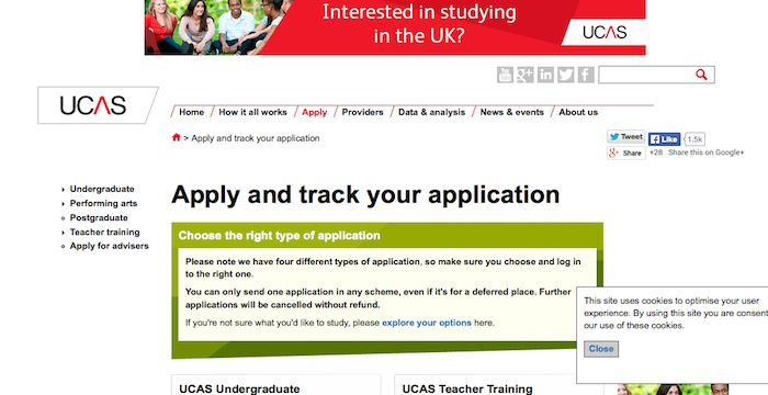 UCAS Track Sign In
