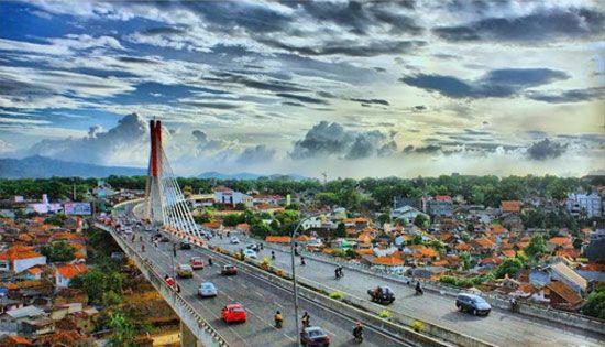 City of Bandung, Indonesia.