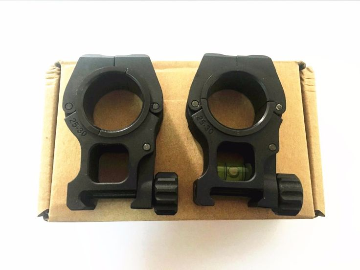 Rifle Rings 30mm / 25.4mm Double Ring Flashlight Scope Laser Mount With Spirit Level 20mm Weaver Rail Dovetail spirit level
