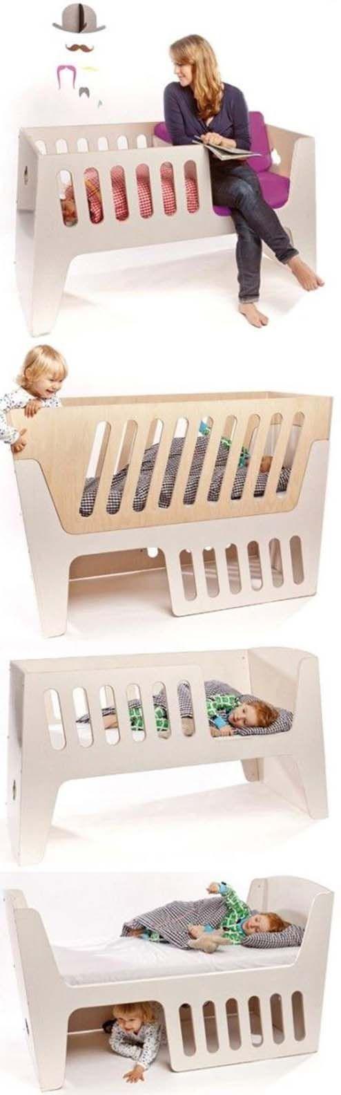 19 Ideas That Are Borderline Genius  Love this crib.