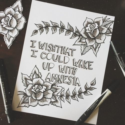 5 Seconds Of Summer (5sos): Amnesia Lyrics Art!!