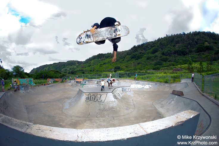 Banzai Skate Park North Shore OAHU HAWAII