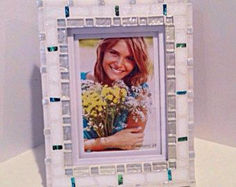 Beach Decor Frame Aqua Teal Modern Home Decor by HamptonMosaics