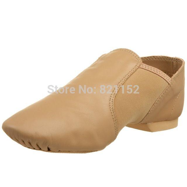 Nuevo de Las Mujeres/de Los Niños/Zapatos de Baile de Jazz de Cuero Genuino de Los Hombres Resbalón en Negro/Brown
