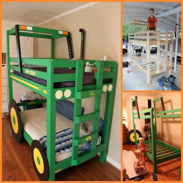Amazing DIY Tractor Bunk Bed