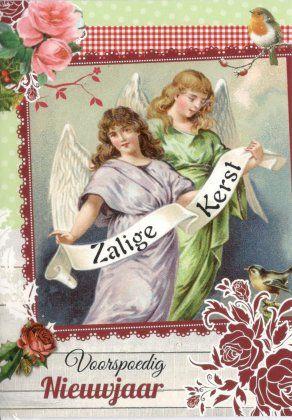 Kerstkaarten met engelen