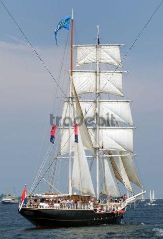 Sailing ship at the windjammer parade of the Kiel Week 2006 Kiel Fjord Schleswig-Holstein Germany Europe