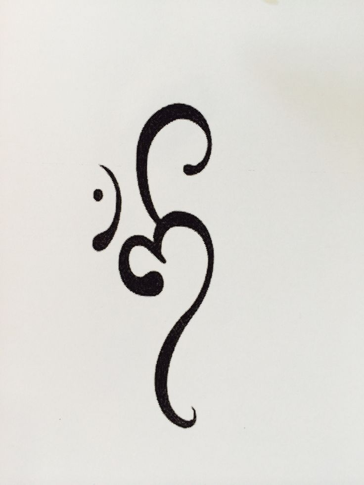 Inspiration for an ohm/aum tattoo...