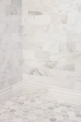 Marble subway and hex tile