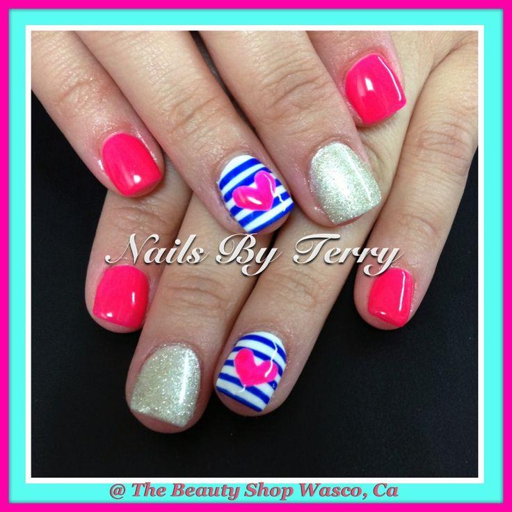1266 best Square Gel Nails images on Pinterest | Nail art designs ...