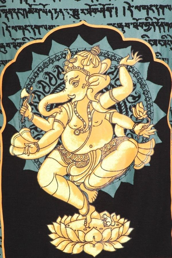 Ganesha Graphic Racerback Tank Top